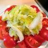 冷製【1食47円】ざく切りキャベツコールスロー&トマトサラダの簡単レシピ