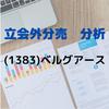 【立会外分売の分析】1383 ベルグアース