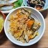 【秋ご飯】かぼちゃと舞茸の炊き込みもち麦ご飯の作り方。