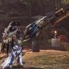 MHW:「皇金の銃槍・風漂」装備2種!殴りと砲撃作ってみた。