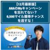 【12月最新版】ANAのMyキャンペーンを忘れてない?6,500マイル獲得チャンスを逃すな!