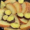 朝からりんごのバター煮