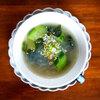 本日の朝食惣菜は春雨と胡瓜の中華風スープ<おうちごはん>