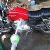 ヨンフォアを洗車しました。やっぱり渋い。
