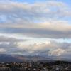 朝景色~その95『城壁のような雲に』