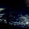 🛫飛行機から夜景を撮影🗻
