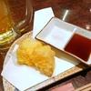 くし天ぷら、シマアジのお刺身など
