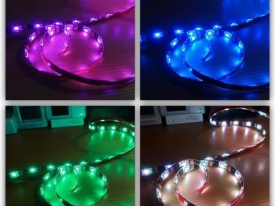 【おしゃれ】デスクをライトで照らせ!貼り付けるLEDイルミ照明でおしゃれな雰囲気に!