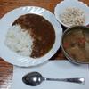 大根サラダとカレーと大根の味噌汁