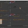 Blender 2.8でモデリングする その6(ミラーモディファイアの設定)
