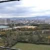 大阪城天守閣展望台からパノラマ