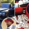 メイウェザー早速2億7千万円で購入の車、座席に1万円札束の山を演出。