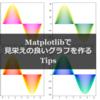 【技術メモ】python matplotlibで見栄えの良い色, グラフを作るTips