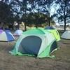 年越しキャンプ開始