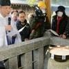 お粥占い「注意報」災害事故「兆し見ゆ」海童神社 、そして千栗八幡宮では「大いに見ゆ」!