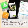 【iOS】Pages・NumbersデータをPDFファイルにする方法