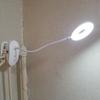 【Crzko クリップライトLED】任意の場所に設置できるLEDクリップライトを導入。ベッドサイドで使いやすい