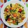 【筋力トレーニング応援】サラダチキンと豆のコンソメペペロンチーノの作り方。