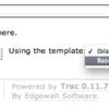 Tracのwikiテンプレートを利用する