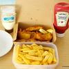 カラマリ&チップスの夕食