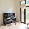 【Web内覧会】ピアノのあるリビング風景