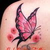 蝶 タトゥーデザイン 女性のワンポイントタトゥー