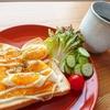 半熟ゆで卵とチェダーチーズトースト【朝食レシピ】