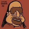 スティービーワンダーの似顔絵