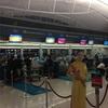 深夜のベトナム空港