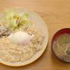鶏と豆腐のそぼろごはんwith温玉