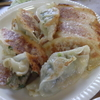 幸運な病のレシピ( 792 )昼:餃子、オム焼きそば(仕立て直し)