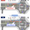 岡山県 国道53号番町交差点で左折レーンを新設し渋滞対策