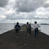 沖堤防でサバイバル