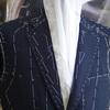 東京都中央区K.Hさん濃紺ポーラー地のサマースーツ(衿つけ〜袖作り)