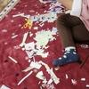 3歳娘はハサミに夢中😄と、我が家の粘土遊び。
