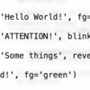 ClickをつかってPython製CLIツールをスマートにする その7:文字色をつける