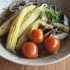 夏野菜と賄い。