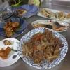 幸運な病のレシピ( 1043 )夜:焼き鳥(ピリ辛)、牛肉炒め、餃子、鱒