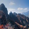 根子岳の紅葉 2009.10.31 (1) 天狗峰と地獄谷