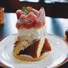 【豊橋カフェ巡り】40年以上前からある老舗「三愛」のそびえ立つ塔のような盛り付けのホットケーキが凄い!