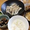 にぎすの揚げ焼きと ごぼうと白たき煮