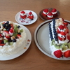 わが家の手作りクリスマスケーキ(6号サイズ+ブッシュドノエル)。お店で買うよりどのくらい安い?!