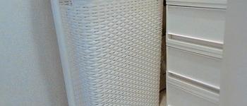 【洗面所の収納公開】洗濯かごはフタ付きに!シンプル大容量ですっきり