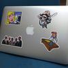 Macbookのドヤ感を消すためにパワポのクリップアートのシールを作って貼った