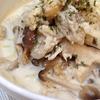 冷凍ベビーホタテとたっぷりきのこの和風クリームスープパスタの簡単レシピ♡