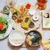我が家の天ぷらの揚げ方/My Homemade Tempura Dinner at Home/อาหารมื้อดึกที่ทำเอง