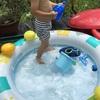 コスパ最強!暑い日には庭でビニールプール!