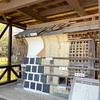 【金沢城めぐり】鶴の丸休憩館の前にある鶴の丸土塀の構造模型