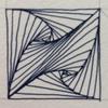 【ゼンタングル】ひたすら三角