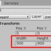 【Unity】RectTransformのWidth・Heightをスクリプトから変更する